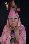 typetje roze bloemenfee flower